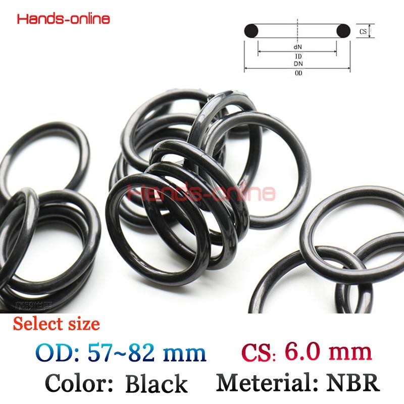 10-Oil Resistant NBR Nitrile Butadiene Rubber 3.1mm O-Ring Sealing Ring 43-114mm