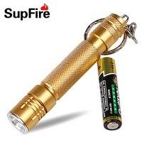 Supfire A1 LED Lampe de Poche Porte-clés CREE XPE 1 Mode Led Torches lampe de Poche Linterna Led par AA Batterie