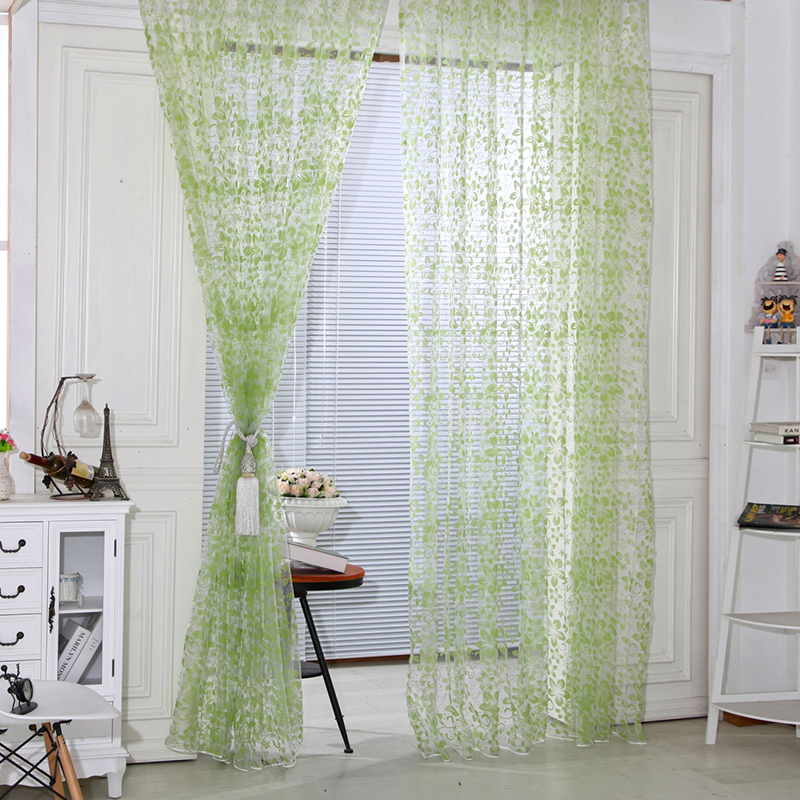 US $1.98 32% di SCONTO|Trasparente tende di tulle/Affollamento modello  tende per Camera Da Letto Cucina Porta finestra Decorativo AA-in Tende da  Casa ...