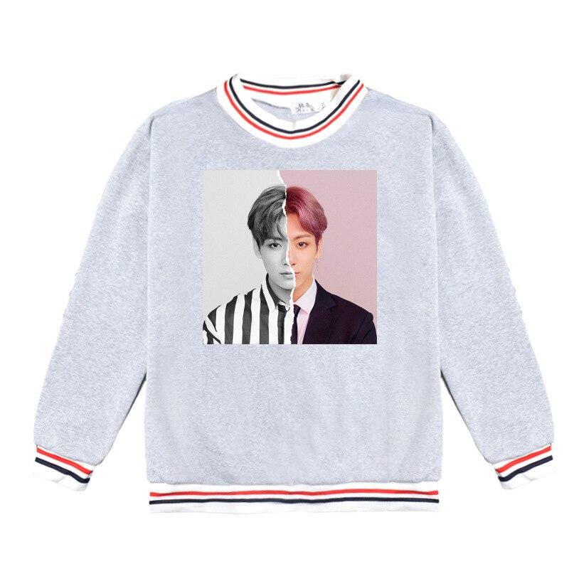 BTS Gray hoodies Bangtan Boys round neck sweatshirt bottom pullovers long-sleeve sweatshirt kpop Korean spring men women clothes