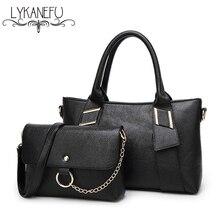 LYKANEFU Brand 2 Sets Women Handbag Tote Bag Ladies Shoulder Bags Wholesale Price Women Purse Bag