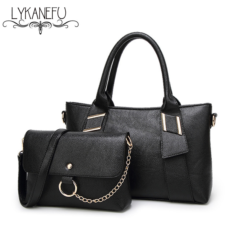 LYKANEFU Brand 2 font b Sets b font Women font b Handbag b font Tote Bag