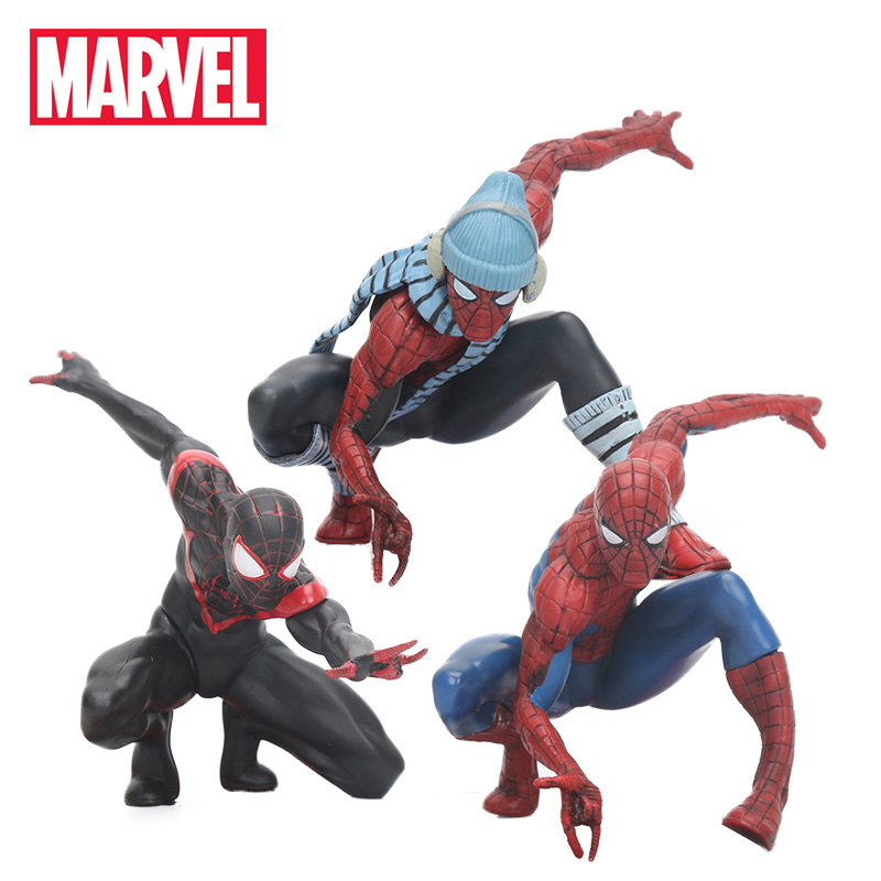 11cm Marvel Toys Spiderman Figure Artfx + Statue 1/10 Scale Pre-painted Model Kit The Amazing Spider-man Collectible Model Toy
