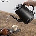 Kbxstart 1L Электрический чайник из нержавеющей стали с длинным ртом  кипяченая вода  горшок  чайник  кофейник  бытовой 220 В