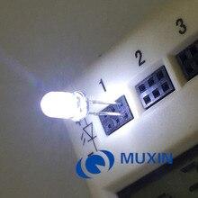 100 шт./упак. 5 мм Ультра яркий белый 15000mcd Прозрачный 5 мм светильник на светодиодах светодиодный светильник 5 мм(DIP 3 V 6000 К Ultralbright