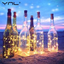 Novelty Lighting RGB LED String Lights 2M Copper Wire Wine Bottle stopper Cork Shaped Flasher Fairy Lights Wed Christmas Decor