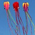 Envío de la alta calidad suave pulpo cometa con la línea de mango al aire libre juguetes flying manga de viento gran cometa kite carrete juego jouer
