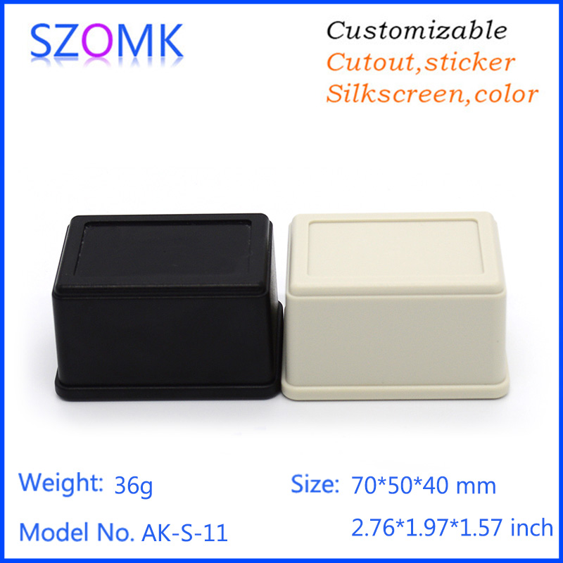 1 pc, 70*50*40mm szomk Diy housing outlet box electrical cabinet abs plastic enclosure plastic case for electronics control box цена