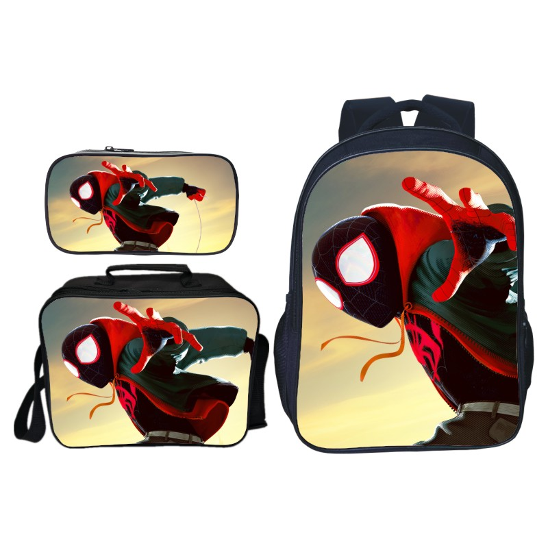 Mode 3 pièces/ensemble impression Cartoon Hero Spiderman enfants épaule sacs à dos enfants bébé sacs d'école garçons livre sac étudiant Mochila