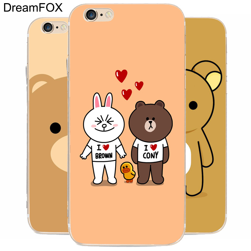 K224 Teddy Bear Love Transparent Hard Thin Case Cover For Apple iPhone 7 6 6S Plus 5 5S SE 5C 4 4S