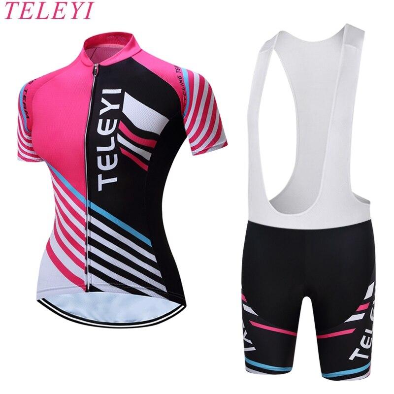 Prix pour 2017 Pro Équipe Femme Cyclisme Maillot À Séchage Rapide À Manches Courtes Cyclisme Clothing Cycle de Vélo Vêtements de Sport Femmes VTT Jersey
