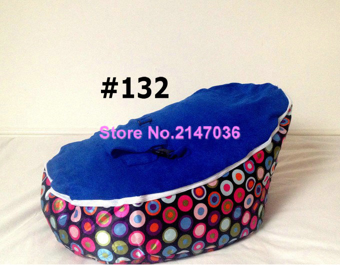 Baby Crib or Kids Chair Indoor Or Out Cushion Beanbag - pink / blue bubbles bean bag chairs