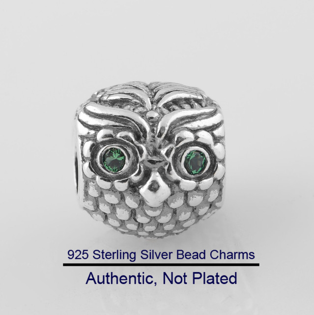 1a41ffe72 Authentic 925 Sterling Silver Wise Owl Original Charms Beads for Jewelry  Making Fits PANDORA Bracelet Charms DIY Jewelry LW289