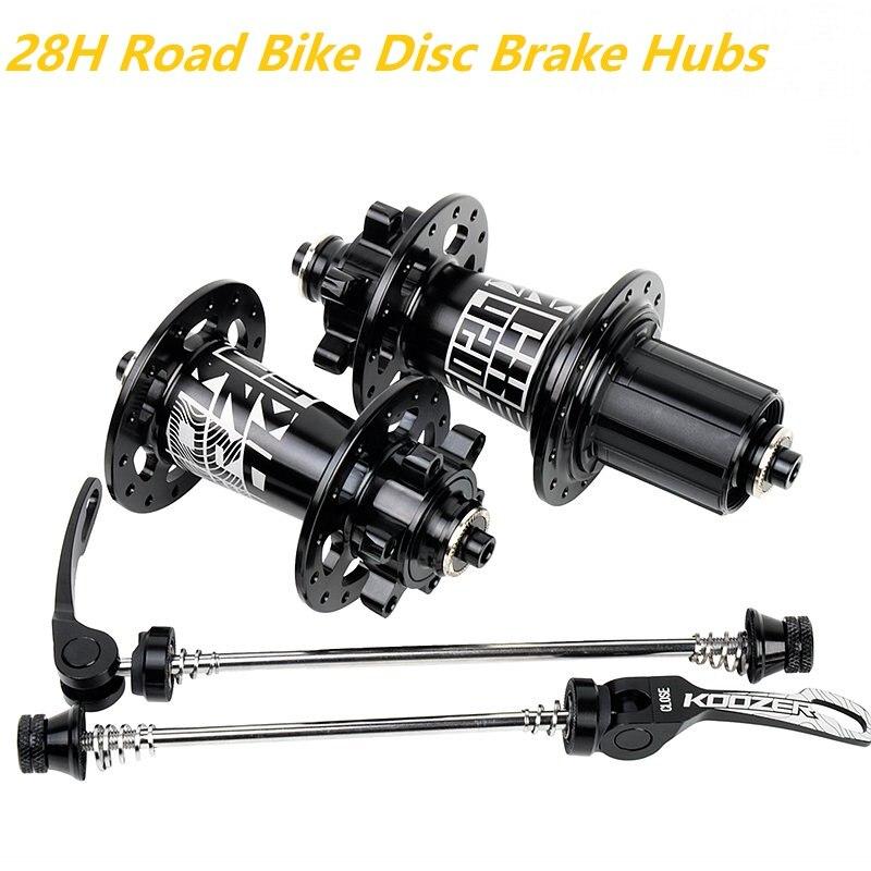 Koozer CX420 moyeux de vélo de route 28 trous 4 moyeu de vélo de frein à disque à roulement salé QR 8 9 10 11 S à travers l'essieu 12*100 12*142 MM pièces de vélo