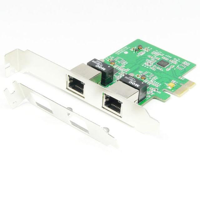 PCI Express PLACA de Rede PCI-e Gigabit Ethernet LAN Card Adapter Controlador de 2 Portas 1000 Mbps RJ-45 Novo