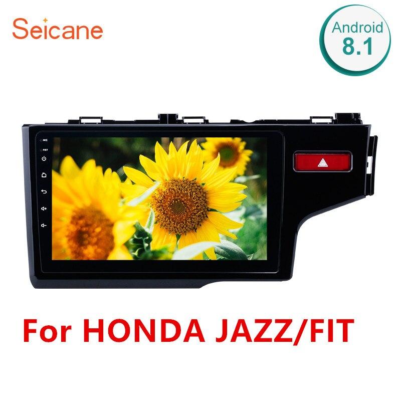 Seicane 2Din Android 8.1 10.1 Polegada GPS Car Multimedia Player Para HONDA JAZZ/FIT 2014 2015 (RHD) controle Da Roda de apoio Da Direcção