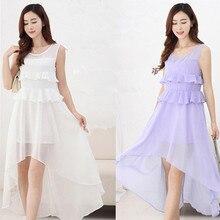 Maternity Nursing Dress for Pregnant Women Clothing Summer Chiffon Breastfeeding Bohemia Skirt Pregnancy Clothes Lactation B69