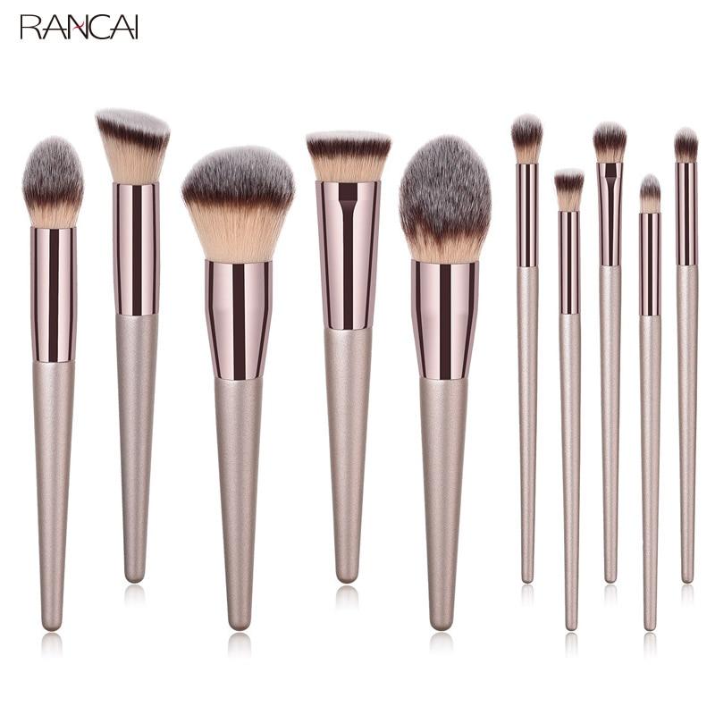 Profesional 4/9/unids 10 PCs brochas de maquillaje Set polvo base sombra de ojos corrector cosméticos maquillaje brochas suave pelo sintético