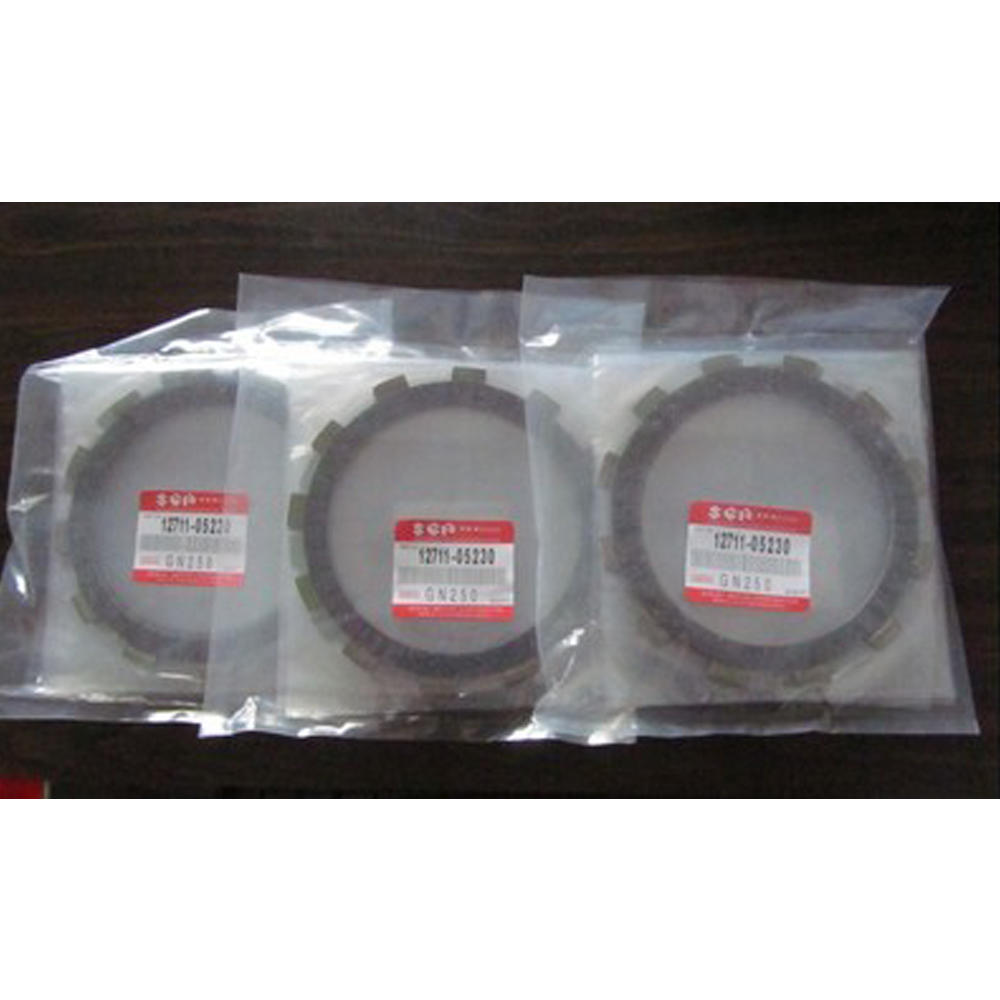 Motorcycle Clutch Friction Plates Set for SUZUKI GN250 GN 250 Clutch Lining 5 PCS Bakelite Knight friction