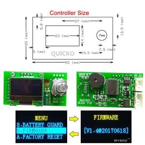 Image 4 - QUICKO STC OLED T12 952 الرقمية متحكم في درجة الحرارة لحام محطة الحديد أطقم صناعة يدوية مع حافظة معدنية ومقبض سبيكة سوداء