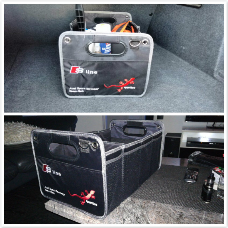 Car Trunk Organizer Collapsible Toys Food Storage Truck Cargo Containe For Audi A3 A4 B6 B8 B7 B5 A6 C5 C6 Q5 A5 Q7 TT A1 S3 S4