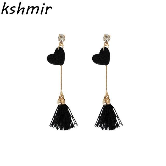 389b48073 Minimalist fashion sweet love earrings Small tassel earrings female jewelry  fair maiden temperament popular Stud earrings