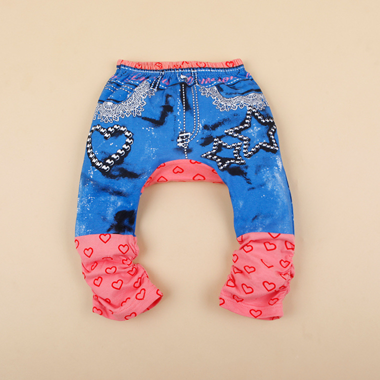 Red Leopard Trousers Baby Girls Black blue Warm knit Leggings winter Holidays