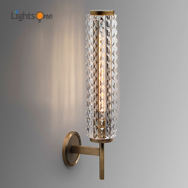 pos moderna lampada de parede cobre luxo cristal sala estar espelho do banheiro farol villa luz