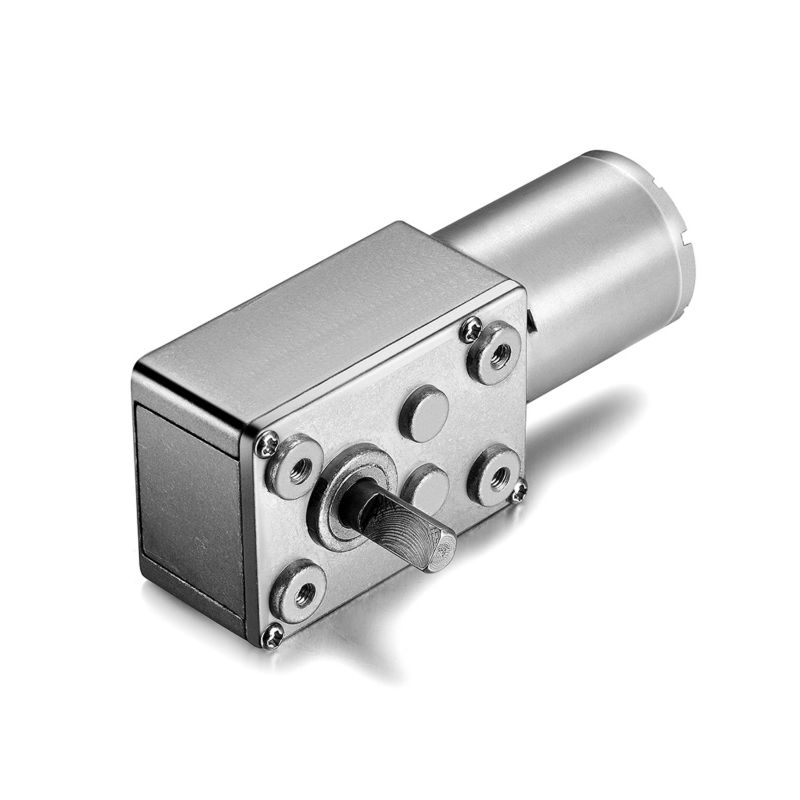 24V 45RPM Electric Metal Reversible Worm Geared DC Motor 6mm D Shaped Shaft High Torque Turbine Worm Gear Box Reduction Motor zga37rh dc 24v 25rpm 6mm shaft dia cylinder permanent magnet geared box motor
