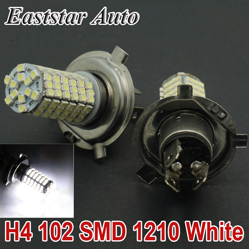CQD-Light High Power  H4 120 LED 3528 1210 SMD Pure White Car Auto Light Source Fog Headlight Parking Driving Lamp Bulb DC12V new arrival a pair 10w pure white 5630 3 smd led eagle eye lamp car back up daytime running fog light bulb 120lumen 18mm dc12v