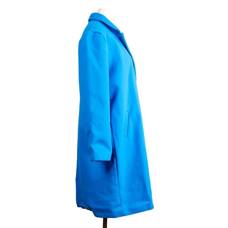 HTB1Lv DatzvK1RkSnfoq6zMwVXaE 2018 New Women Long Sleeve Turn-Down Collar Outwear Jacket Wool Blend Coat Casual Autumn Winter Elegant Overcoat Loose Plus Size