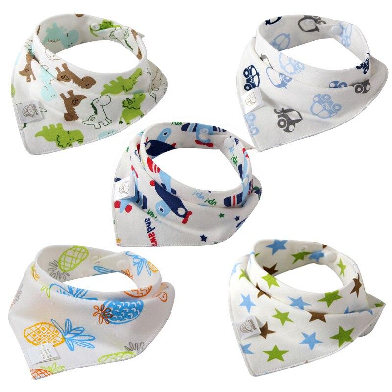 5 Pcs Lot Baby Bibs Bandana Cotton Burp Cloths Newborn