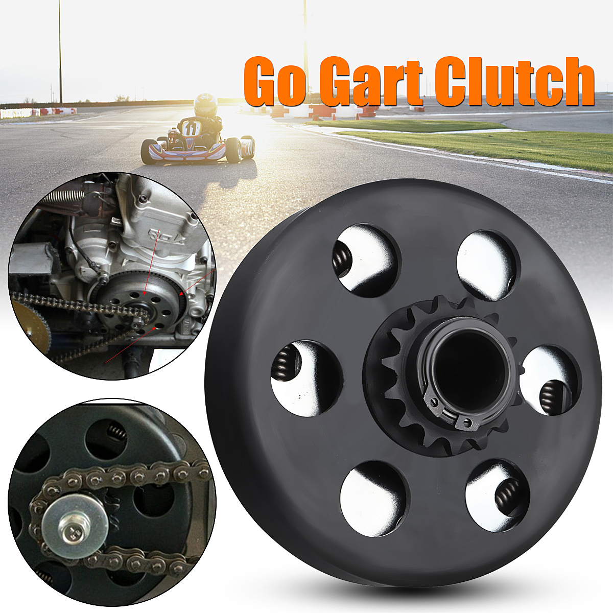 US $27 44 23% OFF|Iron+steel Centrifugal Clutch Sprocket 19mm 15t For Honda  Prokart 219 Chain Funkart Gokart-in Go Kart Parts & Accessories from