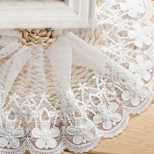 14cm width Cotton Embroidered Sewing Ribbon Lace Trim Dress Lace Fabric DIY Garment Accessories Curtains African Lace кружево для шитья diy lace garden 7 14cm lt048 diy embroiered