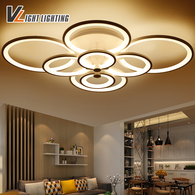 Modern  Remote control with dimming LED ceiling lights for living room dining room white color surface mounted led fixtures modern led ceiling lights black white square office light with dimming remote home lighting for living room dining ceiling lamps