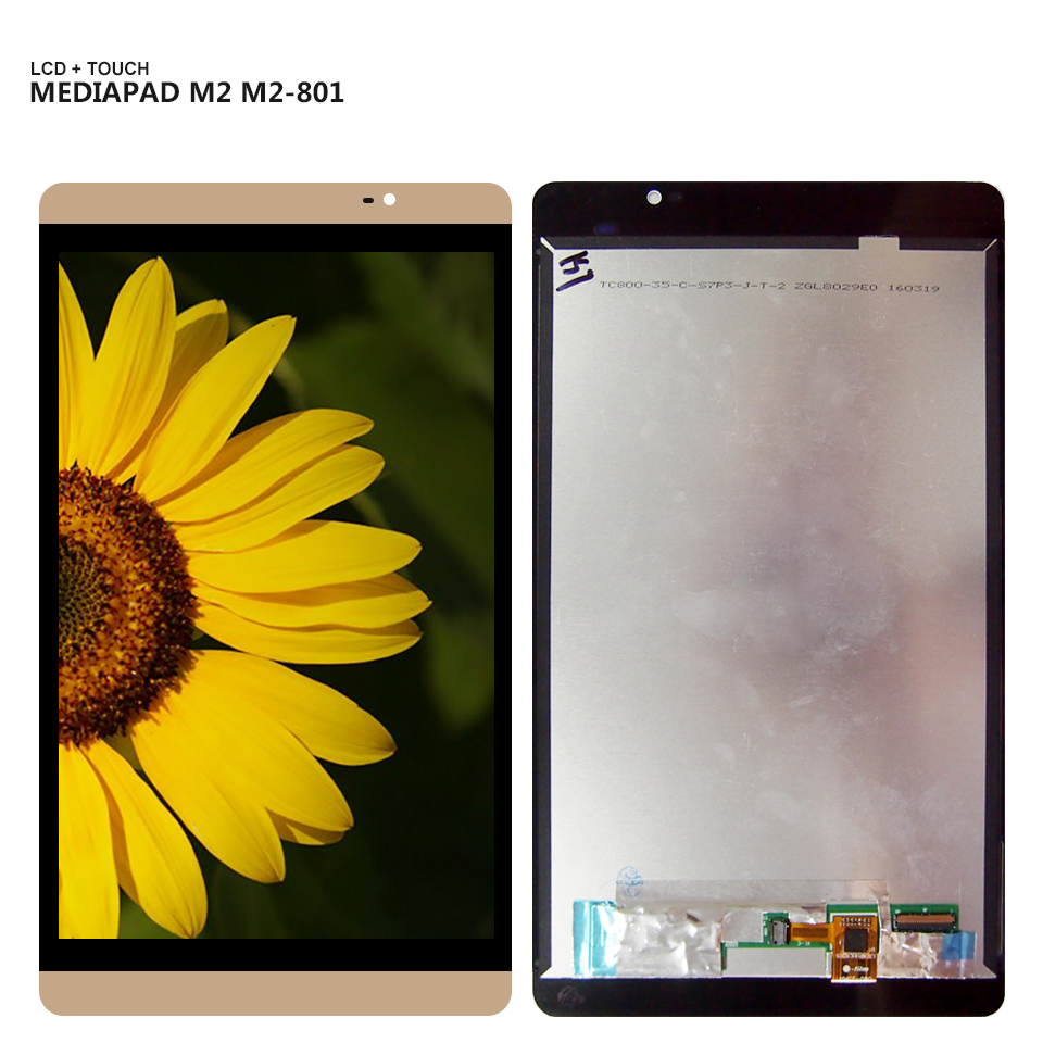 8.0'' For Huawei Mediapad M2 M2-801 M2-801L M2-802L M2-803L Display Panel LCD Combo Touch Screen Glass Sensor Replacement Parts