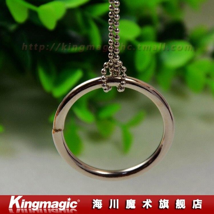 10 шт/партия большой круг/волшебное ожерелье/цепь и кольцо релиз/серебро или золотой/Волшебный реквизит