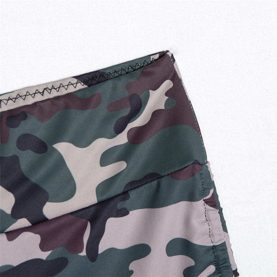 2019 woman sport shorts  Camo slim athletic shorts fashion drawstring design athletic leggings dance fitness shorts 40MA9 (12)