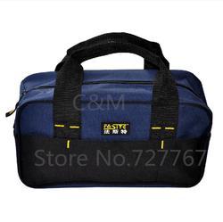 Novo design 300g varejo homens maleta de ferramentas sacos de Ferramenta Durável e Portátil preço de Fábrica comprimento 34 cm 600D oxford
