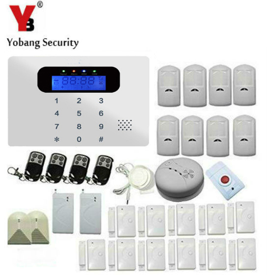 YobangSecurity Russian/Spanish/French Wireless Wired GSM SMS Home Burglar Security Alarm System Kit with Touch Keypad Auto Dial wireless gsm pstn auto dial sms phone burglar home security alarm system yh 2008a