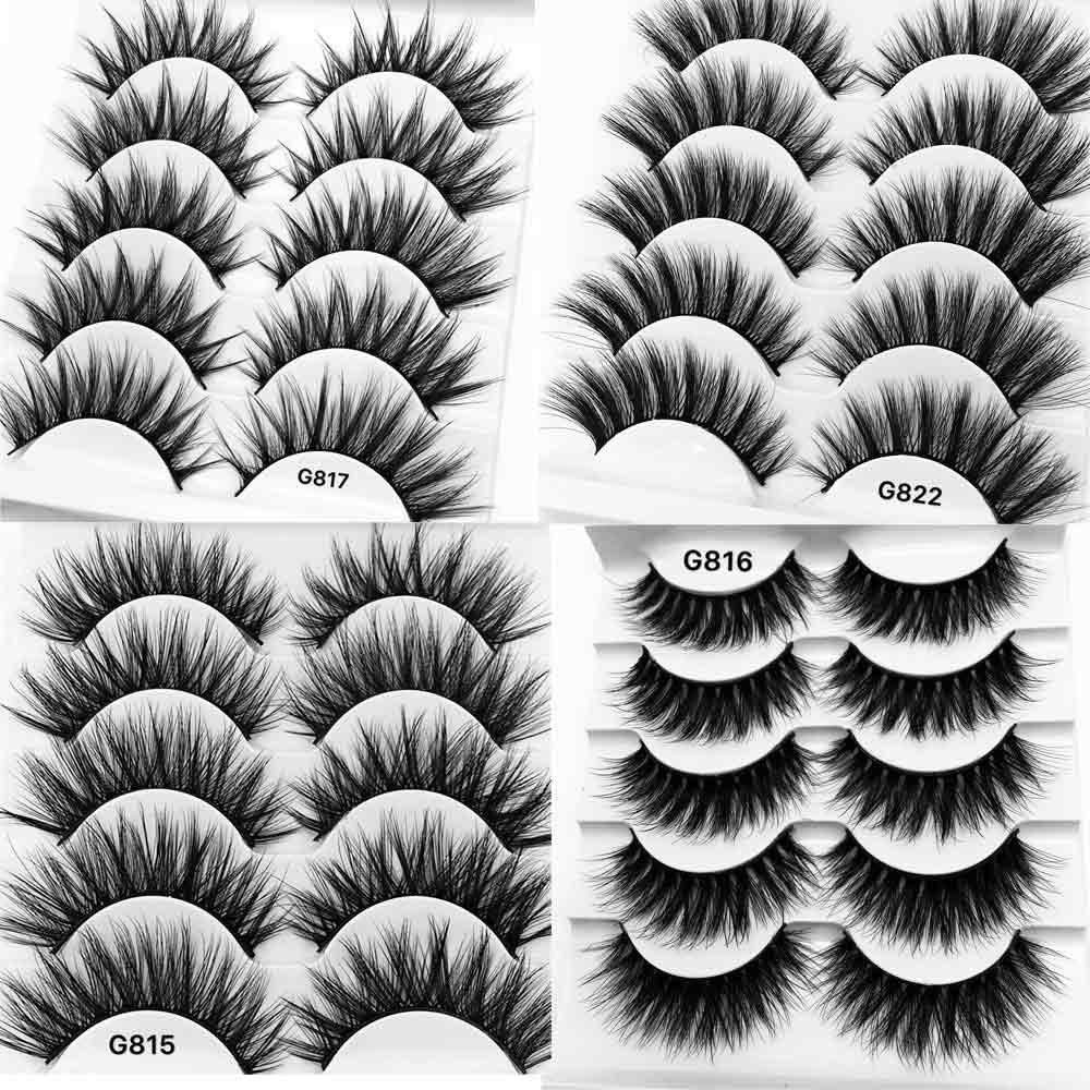 5 Pairs 3D Mink False Eyelashes
