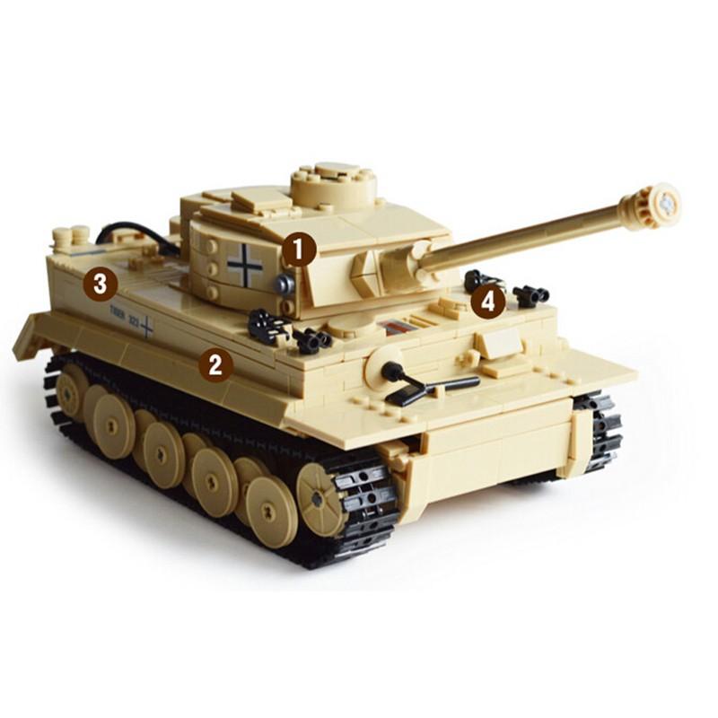 995pcs-Century-Military-Building-Blocks-German-King-Tiger-Tank-Model-Enlighten-Blocks-Education-Toys-Compatible-TY0052 (4)