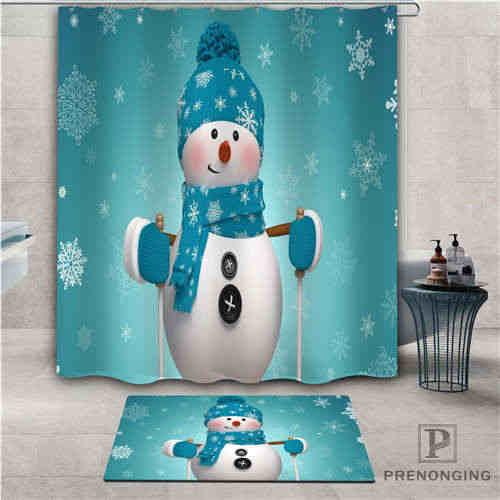 מותאם אישית חג המולד (1) עמיד למים מקלחת וילון שפשפת בית אמבטיה אמבטיה פוליאסטר בד רב גדלים #2019-1-06-25