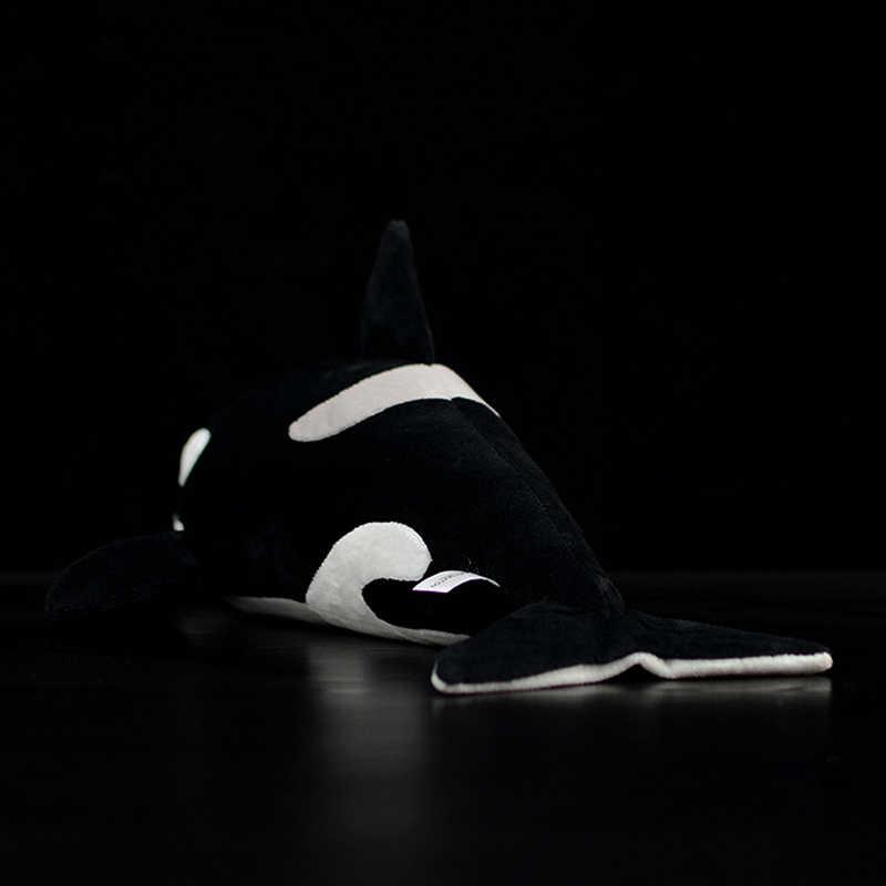 """16 """"/40 Cm Thực Orca Sang Trọng Đồ Chơi Thêm Mềm Mại Cá Voi Sát Thủ Đồ Chơi Nhồi Bông Động Sống Động Vật Biển sang Trọng Búp Bê Quà Tặng Cho Trẻ Em"""
