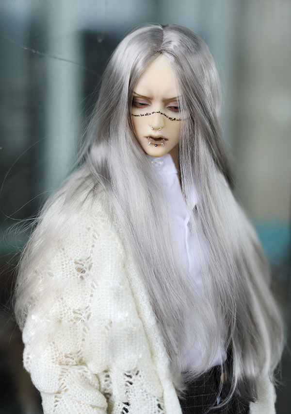 BJD doll hair wigs silver gray Imitation mohair long wigs for 1/3 1/4 1/6 BJD DD MSD YOSD doll super soft hair doll accessories bjd wigs double braided jerryberry multicolor faux mohair sd doll 1 3 1 4 1 6 1 8