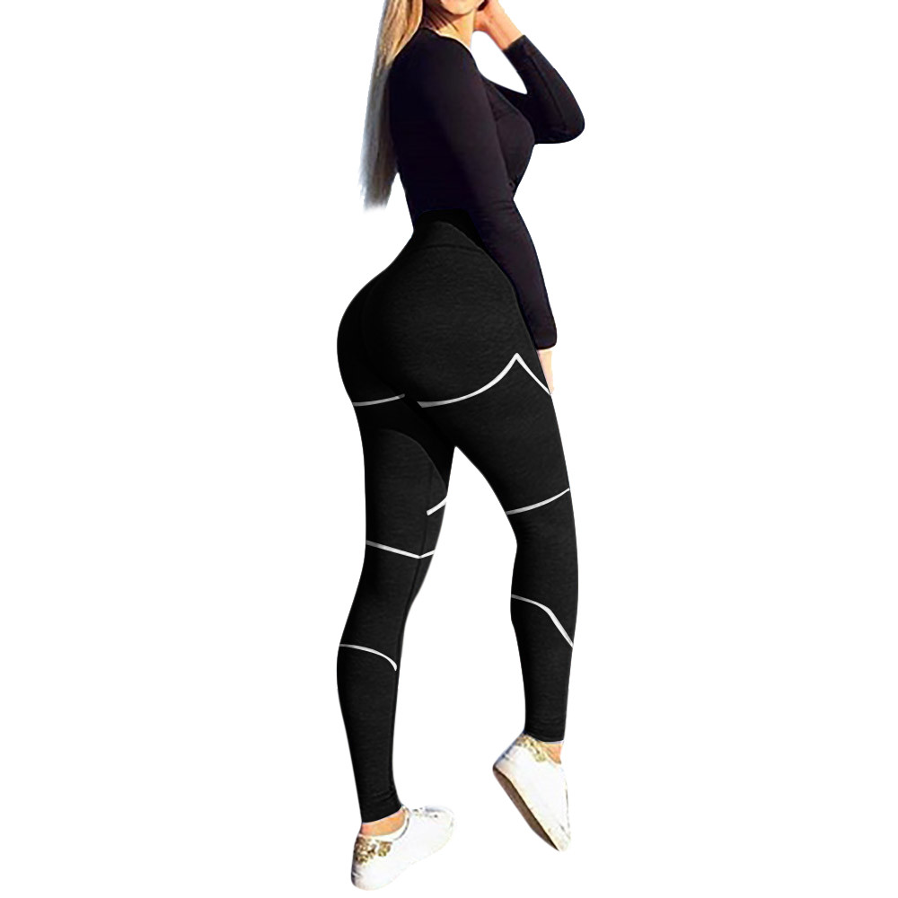 Women's Fashion Workout   Leggings   Fitness Sports Running Skinny Long Pants High Waist Patchwork Streetwear Sweatpant Leggins Plus