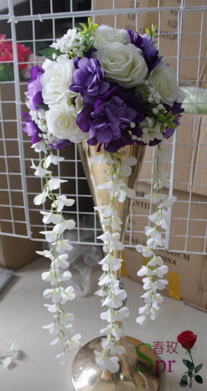 Spr New10pcslot Wedding Table Centerpiece Flower Balls Dahlia Rose