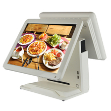 cash register 15 inch LCD touch screen all in one pc dual screen cash register pos system high quality pos terminal