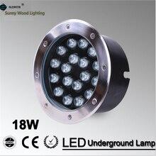 Envío gratis LED underground lámpara 18 W luz enterrada, IP67 LUL-A-18W embedded luz AC85-265V 3 años de garantía