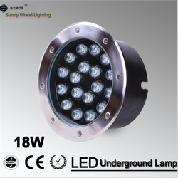 Free shipping LED underground lamp 18W inground light ,IP67 embedded light AC85-265V  LUL-A-18W  3years warranty